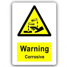 Warning Corrosive-Aluminium Metal Sign-150mmx100mm-Notice,Safety,Science,Business,Chemicals,Health